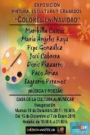 """Exposición Pintura, Escultura y Grabados """"Colores en Navidad"""""""