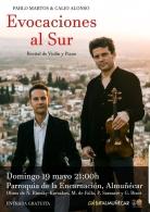 Recital de violín y piano de Calio Alonso y Pablo Martos, Evocaciones al Sur.