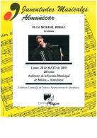 Concierto de Juventudes Musicales, con el acordeón de Olga Morral Bisbal