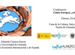 El catedrático Eduardo Cuenca García hablará en Almuñécar sobre: La Unión Europea, ¿Cómo nos afecta?