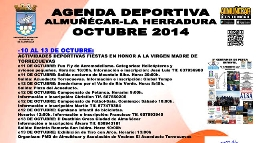 Actividades deportivas en Almuñécar en el de Octubre 2014