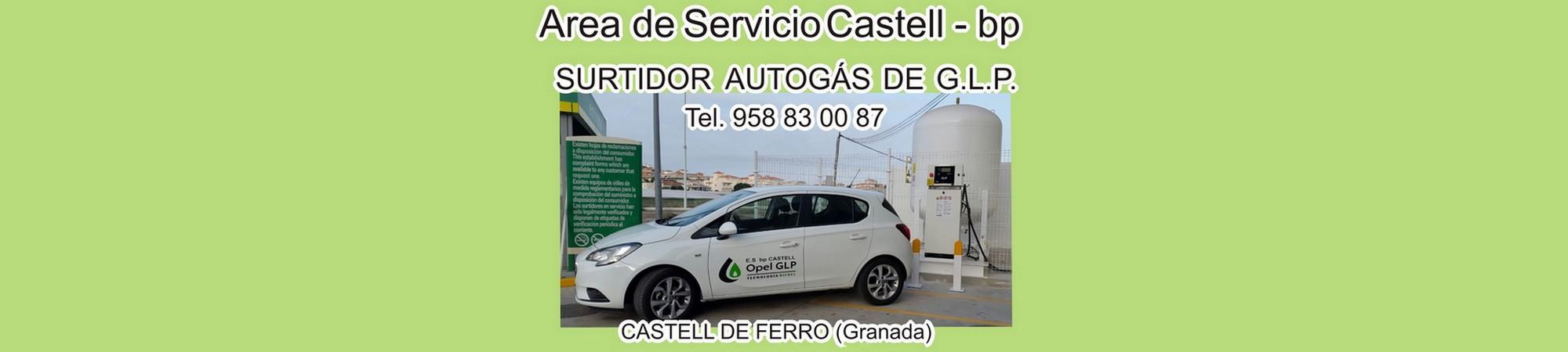 Area de Servicio Castell en castell de ferro, gasolineras en castell de ferro, lavaderos en castell