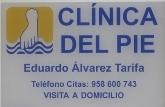 Clínica del Pie Eduardo Alvarez Tarifa - Podólogo