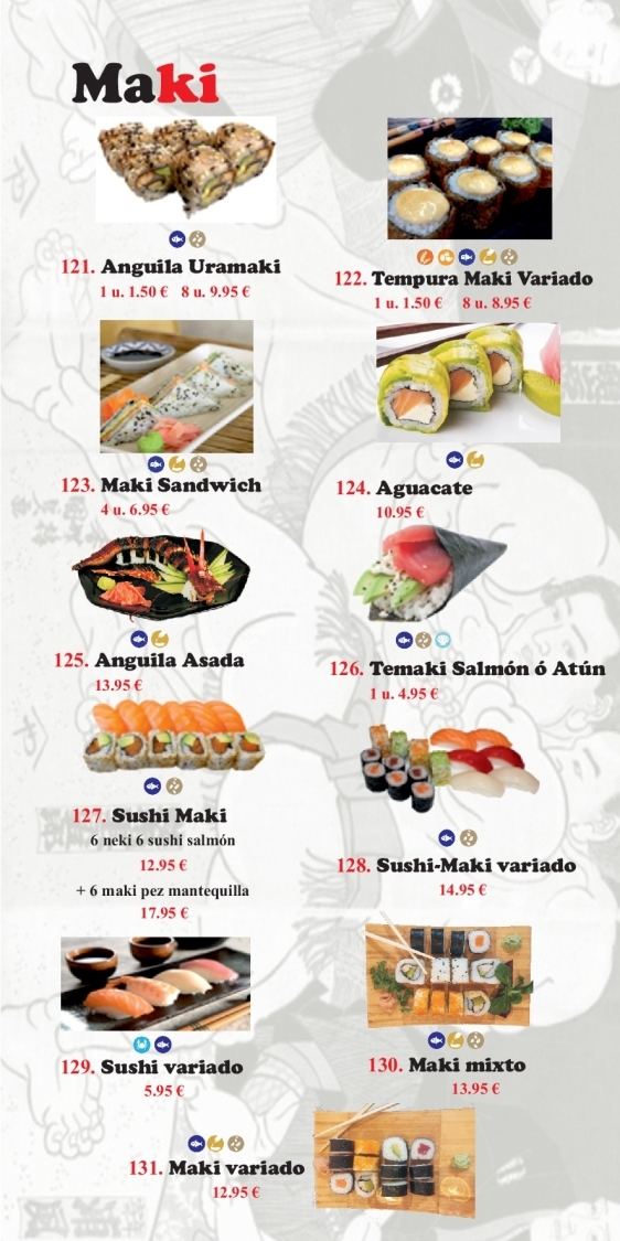 sushi maki en motril, sushi maki variado en motril, sushi variado en motril
