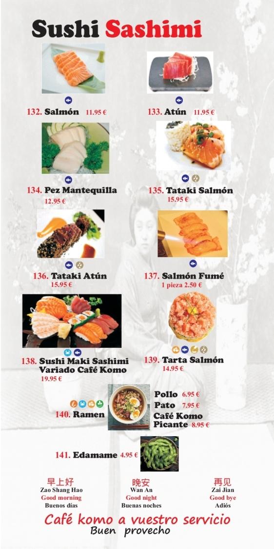 salmon fume en motril, sushi maki sashimi en motril, ensalada china en motril,