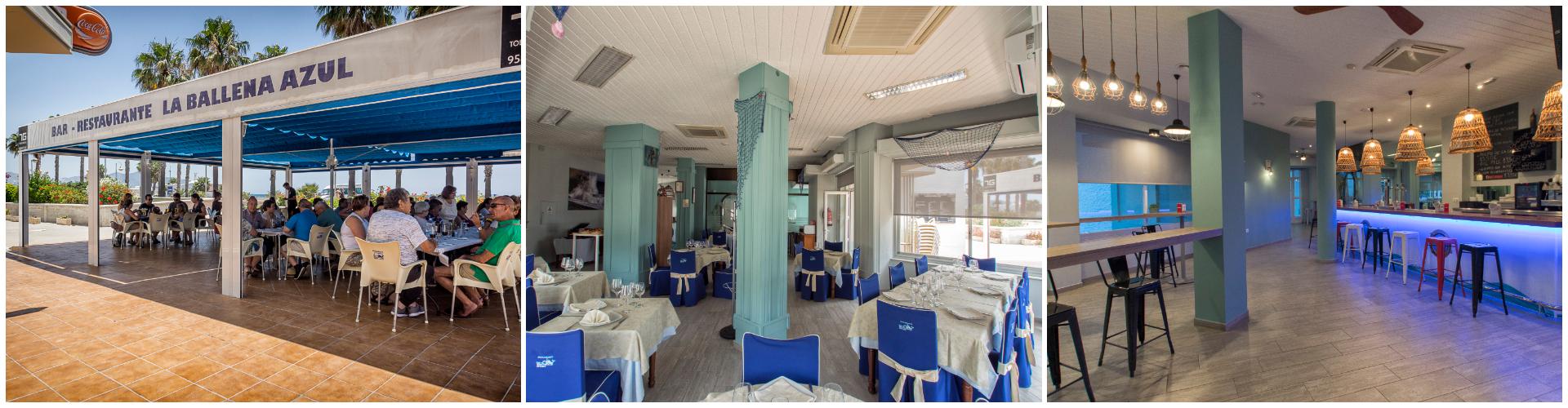 Restaurante La Ballena Azul en motril, donde comer en salobreña, donde comer en almuñecar