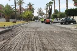Dan comienzo las obras de asfaltado de la Avenida del Mediterráneo y Vial Central