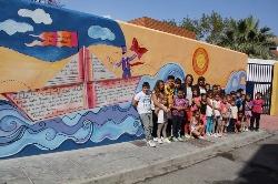 La ludoteca Marsalá de El Varadero se suma a la iniciativa 'Todos pintamos en nuestro barrio'