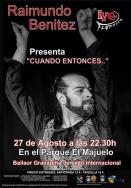 """El bailaor granadino Raimundo Benítez cierra este sábado el IV Ciclo Flamenco """"Ciudad de Almuñécar""""."""