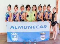 La gimnasia rítmica sexitana se hace con tres metales en el Andaluz Copa y Precopa