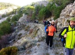 Senderistas de Almuñécar recorrieron la ruta de Collado Volaores en el sur de Sierra Nevada