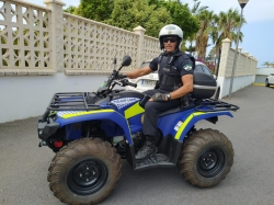 El parque móvil de la Policía Local de Salobreña se incrementa con un vehículo Quad