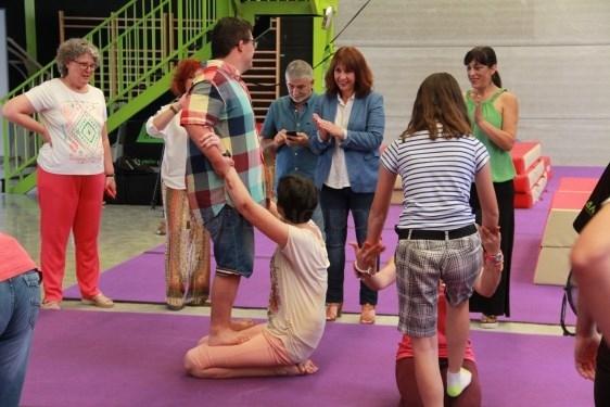 Gimnasia acrobática para personas con dispacidad intelectual