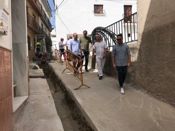 El Presidente de la Mancomunidad visita las obras de mejoras en las infraestructuras hidráulicas de los municipios de Molvízar, Ítrabo y Lentegí.