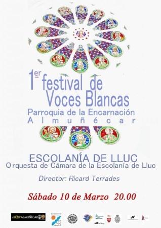 LA ESCOLANíA Y LA ORQUESTA DE CáMARA DE LLUC (MALLORCA) SE PRESENTAN ESTE SáBADO EN ALMUñéCAR