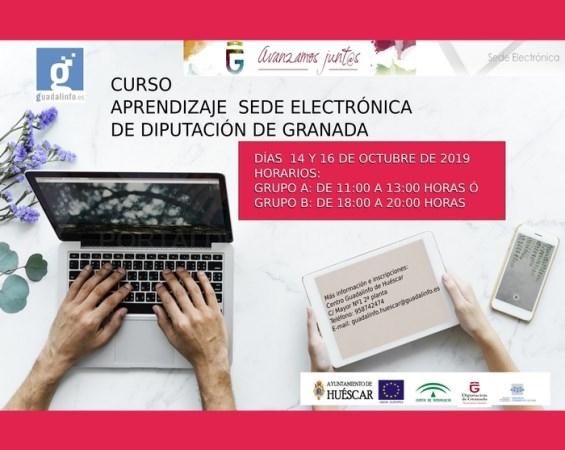 El Centro Guadalinfo de Huéscar prepara un curso práctico sobre la sede electrónica de Diputación