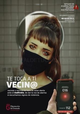 Diputación lanza una campaña para identificar y denunciar la violencia de género durante el confinamiento