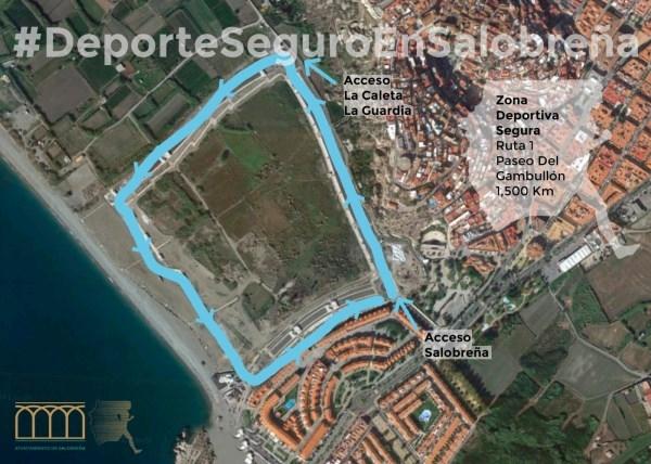 El Ayuntamiento de Salobreña propone 3 rutas diseñadas para practicar deporte y pasear de manera segura durante la desescadala