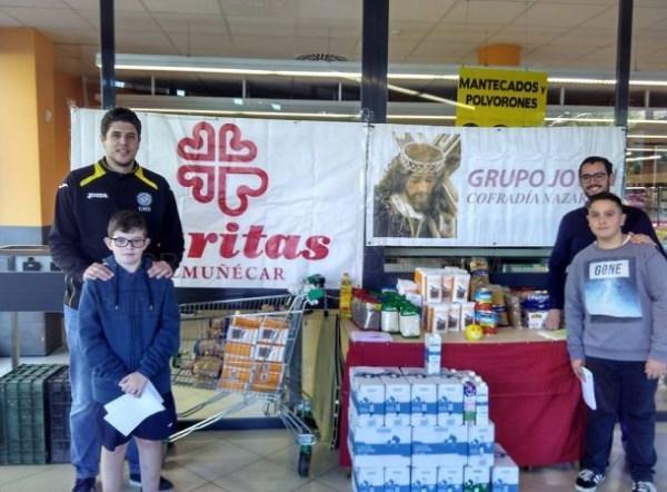 Cáritas, Agrupación de Cofradías y Hermandades de Almuñécar realizarán este sábado una recogida de alimentos en supermercados locales
