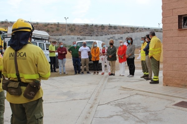 La Junta y el Ayuntamiento resaltan  la operatividad de las instalaciones cedidas al Infoca en el recinto ferial