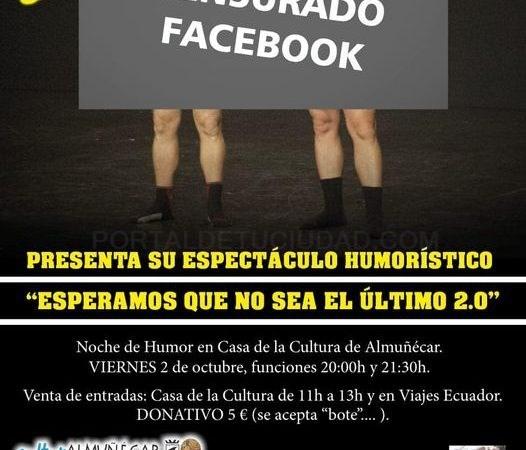 """El dúo sexitano """"Censurado Facebook"""" se presenta este viernes a la Casa de la Cultura de Almuñécar"""