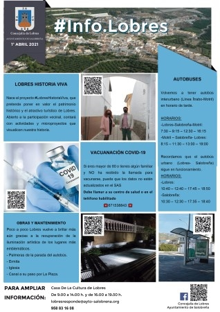 Lobres edita un boletín impreso para facilitar el acceso a la información de interés a todos los vecinos