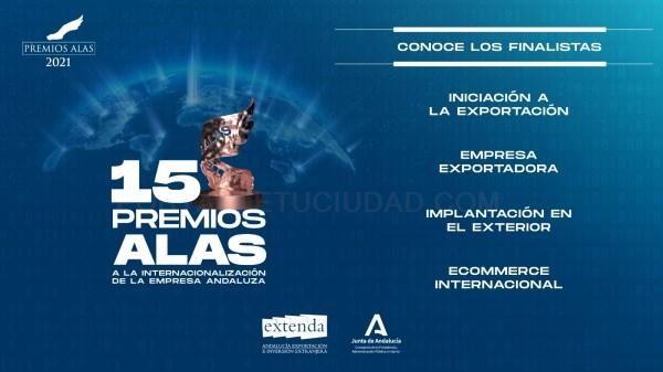Elegidas las 31 finalistas provinciales de los Premios Alas a la Internacionalización de la Empresa Andaluza que organiza Extenda