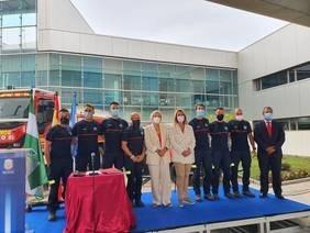 cuerpo de bomberos de Motril vive un día histórico con la toma de posesión de los nuevos profesionales