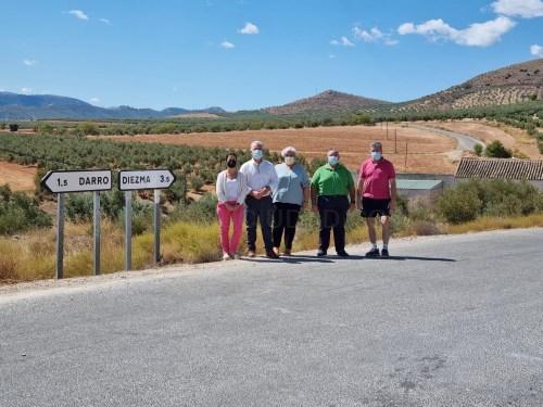 Diputación destina 220.000 euros a la mejora de la carretera entre Diezma y Darro