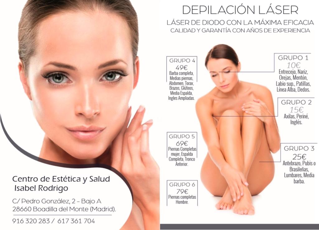 naturopatia en Boadilla del Monte, depilacion en Boadilla, depilación láser Boadilla