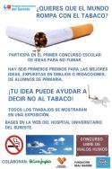Para alumnos de primaria: concurso de ideas del Hospital del Sureste para no fumar.