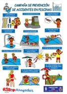Protección Civil de Majadahonda instala carteles con medidas para prevenir accidentes en las piscinas