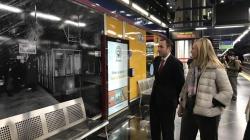 Exposición fotográfica '100 años de Metro' en la estación de Aeropuerto T1 - T2 - T3.