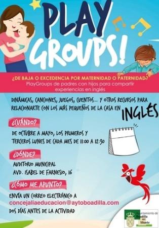 Boadilla organiza PlayGroups de padres e hijos para compartir experiencias en inglés