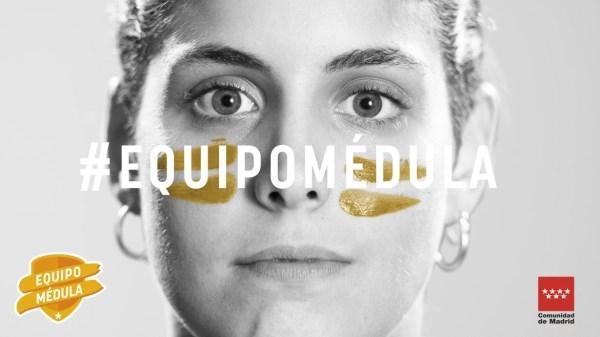La Comunidad de Madrid lanza una campaña que, bajo el lema 'Únete al equipo médula.