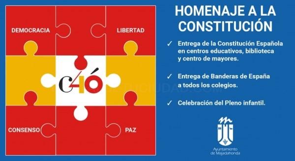 Homenaje municipal a la Constitución Española.