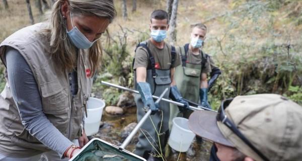 Iniciamos la campaña anual de censos y acciones de rescate de fauna piscícola en ríos trucheros