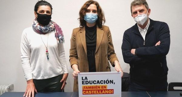"""Díaz Ayuso en Barcelona: """"Madrid está con los catalanes. Mi proyecto es común al de España"""""""