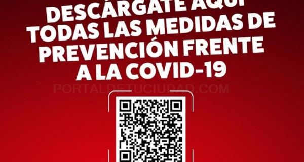 Informamos sobre medidas COVID a través de código QR en cartelería