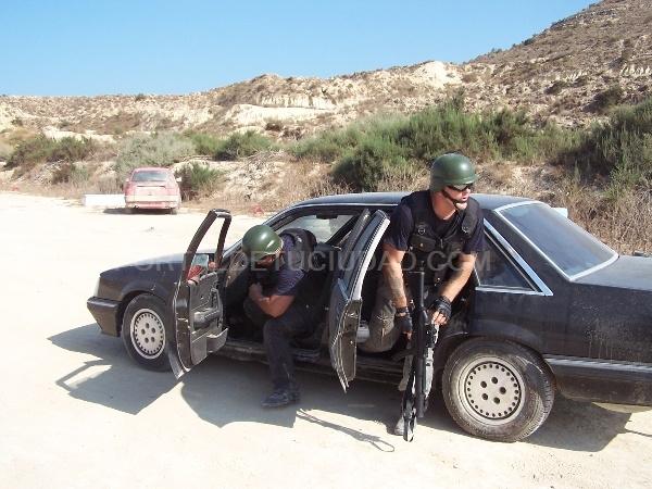 curso de conducción, curso de confrontación armada, curso de intervención policial