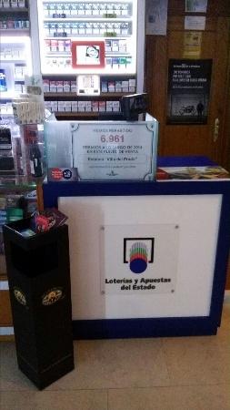 loterias,estanco con sorteo de loteria,quiniela,primitiva,el gordo,suerte