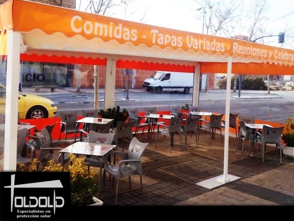 Instalación de toldos en Valladolid,lonas de piscina valladolid,terrazas valladolid
