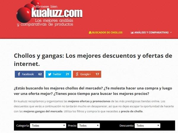 KUALUZZ, EL RASTREADOR DE CHOLLOS ONLINE.