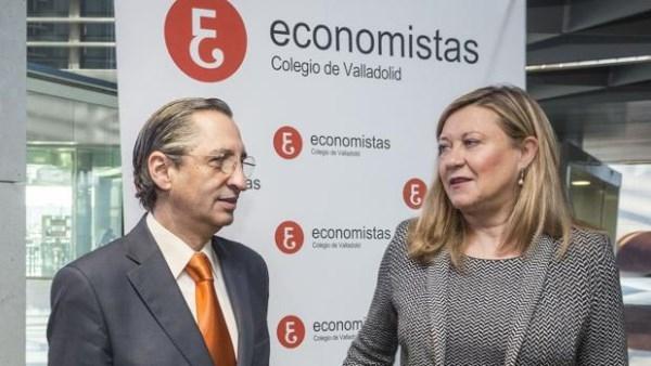 LA CONSEJERA DEL OLMO, DURANTE UN ACTO ORGANIZADO POR EL COLEGIO DE ECONOMISTAS DE VALLADOLID - ICAL - ABC.ES