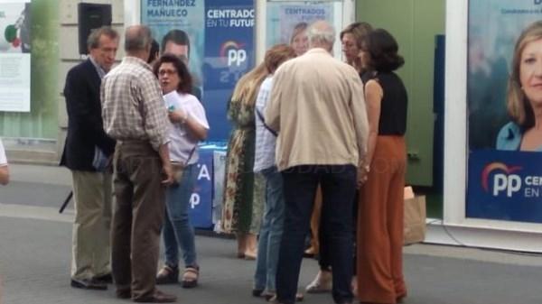 De la Riva, en la caseta del PP de Valladolid