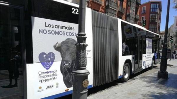 Puente retira de los autobuses de Valladolid la campaña de los animalistas