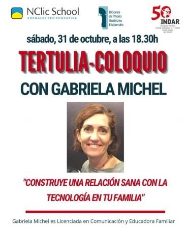 Tertulia-coloquio con Gabriela Michel.
