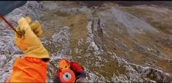 Escalador rescatado por el helicópetro de la Ertzaintza en macizo de Anboto