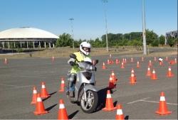 Cursos de conducción segura para motoristas organziado por Tráfico del Gobierno Vasco