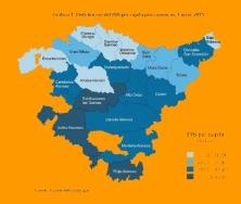 Araba/Álava es el Territorio con más PIB per cápita de la C.A. de Euskadi